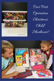 our first operation christmas child shoeboxes pursue your project