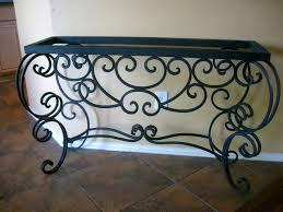 rod iron home decor terrific wrought iron foyer table 81 on home decor ideas with
