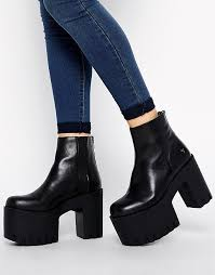 windsor smith windsor smith windsor smith haven leather cleated chunky sole boots