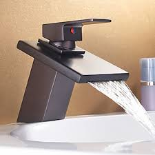imposing plain waterfall faucets for bathroom sinks single handle