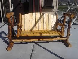 furniture white wooden porch glider for outdoor furniture ideas