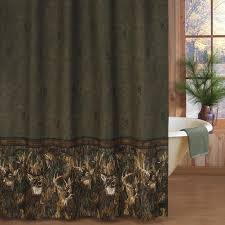 browning whitetail shower curtain cabin place