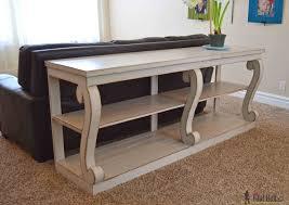 diy restoration hardware sofa table centerfieldbar com