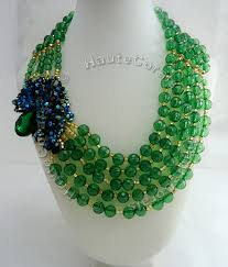 bib necklace designs images Obianuju glamorous rhinestone green statement necklace hautecorals jpg