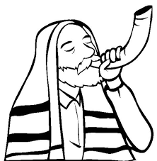 kids shofar shofar sound on rosh hashanah coloring page print
