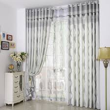 funny gray striped curtains with modern design