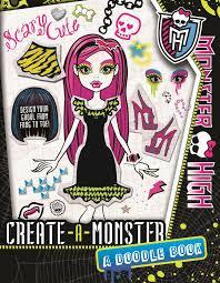 doll design book monster high create a monster a monster high doodle book shop