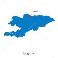 Bishkek Map Detailed Vector Map Of Kyrgyzstan And Capital City Bishkek U2014 Stock