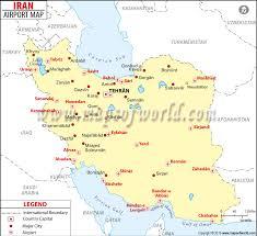 map or iran airports in iran iran airports map
