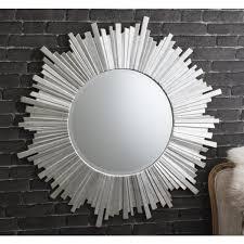 Circle Wall Mirrors Herzfeld Large Silver Round Wall Mirror 39 5