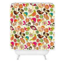Shower Curtains With Birds Valentina Ramos Shower Curtains Deny Designs