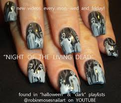 nail art design night of the living dead nail art zombie nail