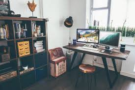 Office Desk Laptop Camera Office Desk Wood Free Stock Photo Negativespace