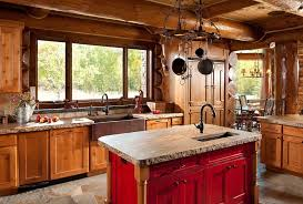 copper kitchen faucets kitchen rustic with log cabin iron hanging