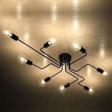 copper pipe light fixture industrial pipe lighting mottled iron 4 lights pipe led wall l