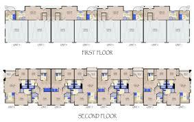 six unit apartment building plans amazing house plans