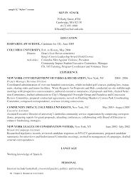 Harvard Resume Template Remarkable Harvard Sle Resume For Your Sle Resume For