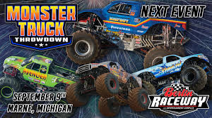 monster truck show maine monster truck throwdown returns to berlin raceway this weekend