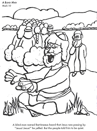Blind Bible A Blind Man Bible Coloring Page For Kids To Learn Bible Stories