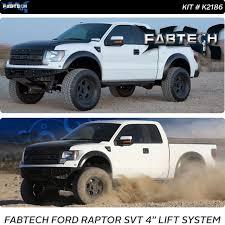 ford raptor lifted fabtech 2010 2014 ford raptor 4 lift kit k2186