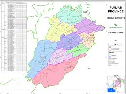 Punjab Map Gis Maps Pakistan Bureau Of Statistics 6th Population And