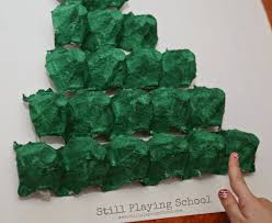 egg carton christmas tree math puzzle still playing