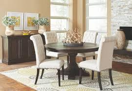 Pine Pedestal Dining Table Weber Solid Pine Smoke Black Ornate Pedestal Dining Table Set With