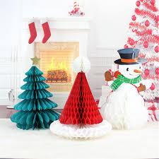 christmas tree hat 1pc christmas tree hat snowman paper honeycomb christmas