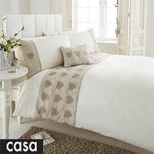 Postman Pat Duvet Set Buy Casa Prima Embellished Linen Hearts Duvet Set At Home Bargains
