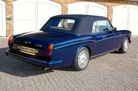 bentley blue color classic 1989 bentley continental cabriolet roadster for sale