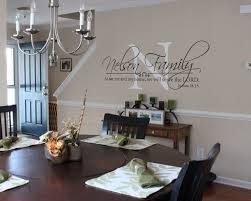 dining room decals joshua 24 15 family name monogram and scripture by grabersgraphics