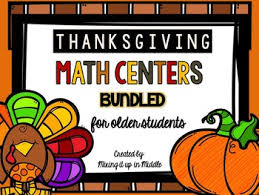 thanksgiving math centers bundled word problems task card bundle