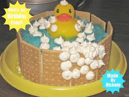 Duckie In A Tub First Birthday Cake Baby Families Com