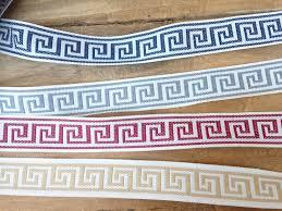 Home Decor Trims Red Greek Key Border Trim Blue Greek Key Trim Gray Greek Key Trim