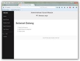 cara membuat halaman utama web dengan php aplikasi surat masuk dengan php mas adi