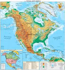 Geographical Map Of South America by North America Physical Map Full Size