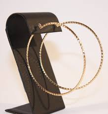 gold hoops large gold hoop earrings with diamond cut s gift