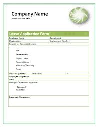 leave application form a to z free printable sample forms