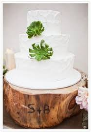 rustic cake stand engraved tree stands great memory for