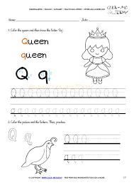 alphabet tracing worksheets how to write letter q