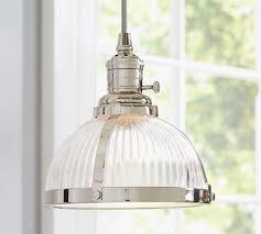 glass kitchen pendant lights pb classic ribbed glass pendant pottery barn