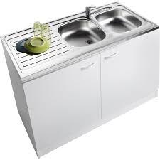 meuble sous vasque sur mesure meuble de cuisine sous évier 2 portes blanc h86x l120x p60cm