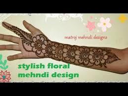 sytlish unique easy floral mehndi henna designs for matroj