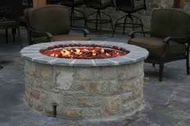 gas fire pit table kit outdoor stone fireplace kits and fire pit inserts round gas fire pit