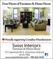 Home Decor Stores Oakville Swiss Interiors Furniture U0026 Home Decor In Oakville On 905 844