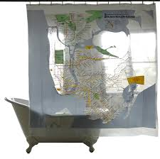 Shower Curtain Map Series Shower Curtains Nyc Subway