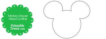 printable mickey mouse head outline u2014 printable treats
