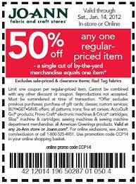 joann fabrics website 50 one regular priced item at joann s kroger krazy