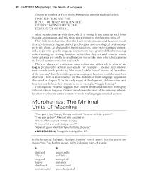 What Does A Resume Include Morphology Extracted From Fromkin Et Al 2011