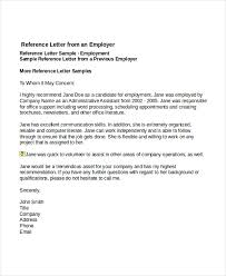 sample professional reference letter for employment oshibori info